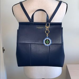 Tory Burch Navy Purse/Backpack